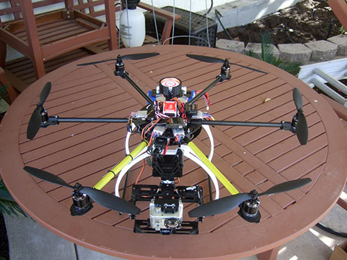 ATG 600-CRP Real Carbon Folding Frame Hex rotor Hexa Multi-copter - The Build