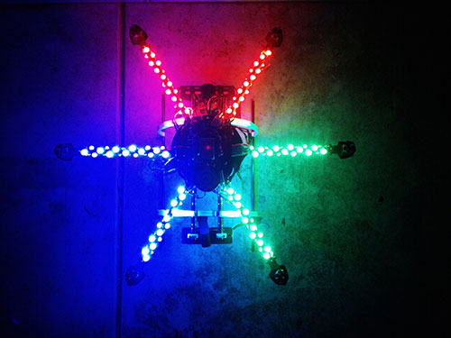 ATG 600-CRP Real Carbon Folding Frame Hex rotor Hexa Multi-copter - LED Lights