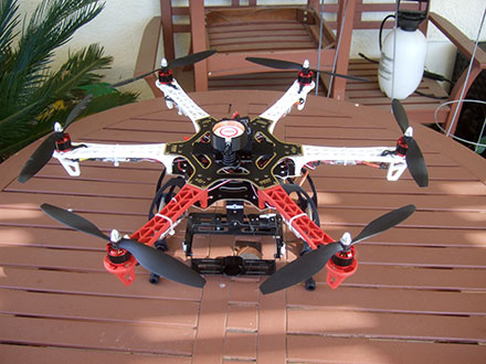 DJI F550 Flame Wheel Multirotor - The Build