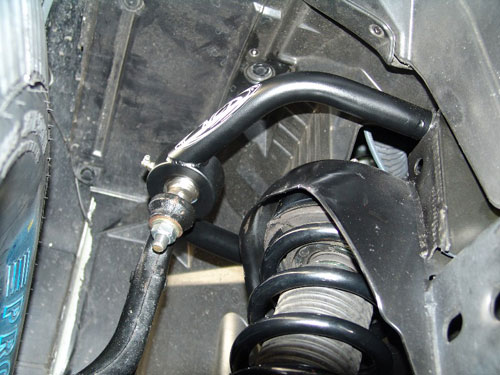 NCD Upper Control Arm installed to a Nissan Titan