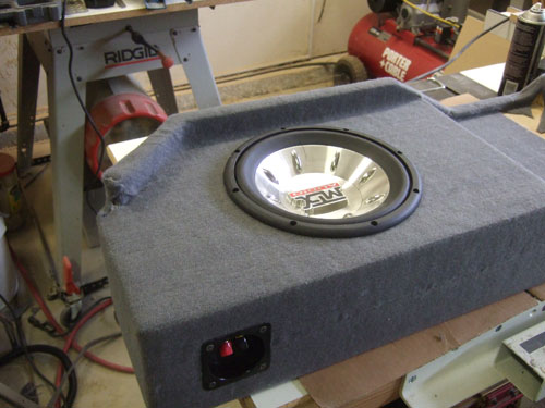 Custom subwoofer enclosure - with MTX 6000 installed