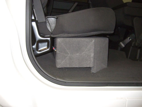 Custom subwoofer enclosure -  a view from the outside